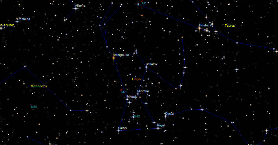 Constellation Map - Orion star map