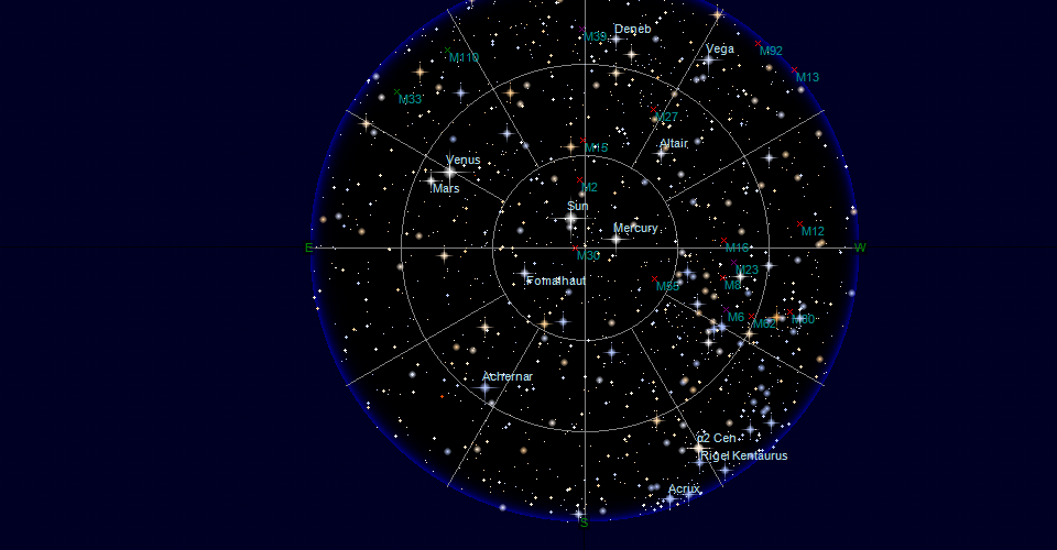 Sky map for Private Location on 2/12/2017 3:00:00 PM UTC